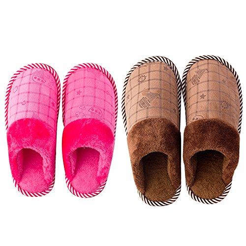39 chaud 38 Chambre chaleureux 41 Pink hiver au nbsp; Chaussons Chaussons chaussures Mâle Modèles L'hiver Brown Accueil 40 moelleux l'hiver de Femelle antiglisse Voile LaxBa Chaussons en Ef1BqnO