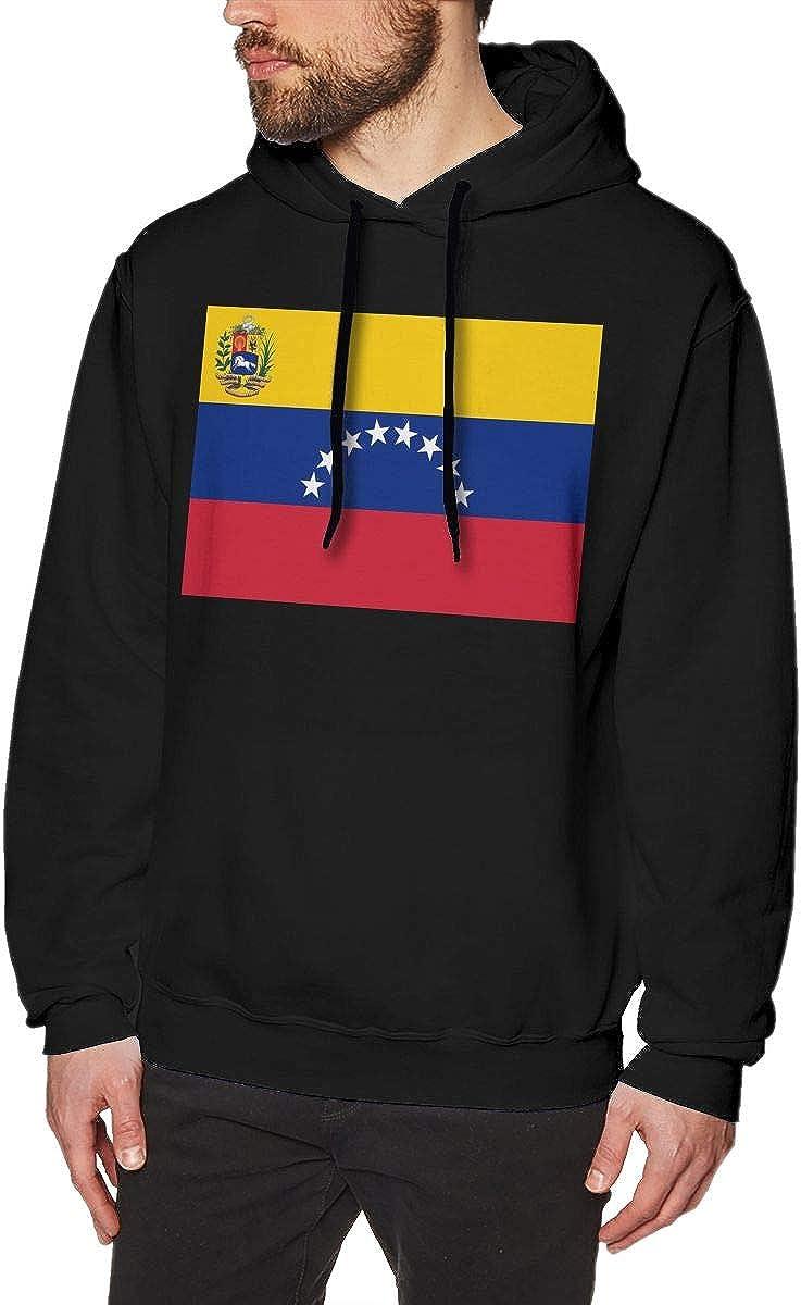Mens Hoodies Venezuela Flag Fashion Pullover Hooded Print Sweatshirt Jackets