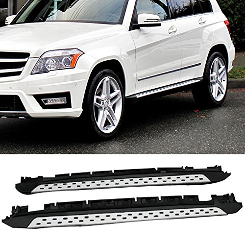 Running Board Fits 2010-2015 Mercedes-Benz GLK350 | OEM Factory Style Aluminum Polish aluminum Side Step Bars Extensions by IKON MOTORSPORTS (Mercedes Accessories Oem)