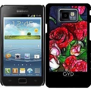 Funda para Samsung Galaxy S2 (GT-I9100) - Rosas Abstractas by Blooming Vine Design