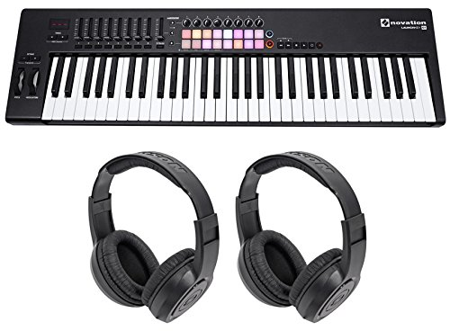 Novation LAUNCHKEY 61 MK2 MK11 61-Key USB/MIDI Controller Keyboard+(2) Headphones