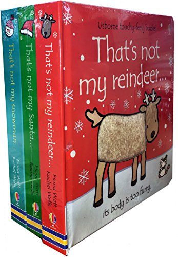 Thats Not My Christmas Collection Touchy-Feely 3 Board Books Set by Fiona Watt (Thats Not My Santa, Thats Not My Snowman, Thats Not My Reindeer) (Christmas Peppa's Set)
