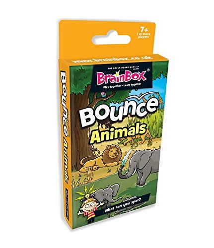 BrainBox Bounce Card Game Animals by The Grün Board Game Game Game Company 48393b