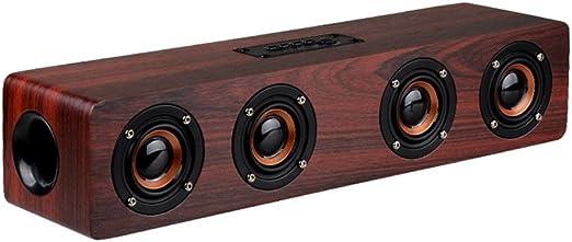 QOUP Bluetooth Barra de Sonido, 4 Altavoz Bluetooth Cuernos 12W de ...