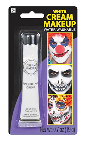 [Party Ready Fashion Cream Makeup Costume Accessory, White, 0.7 Ounce Tube] (Body Paint Costumes For Halloween)