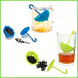 3pcs Umbrella Silicone Infuser Tea Leaf Strainer Loose Herbal Spice Filter Diffuser Coffee Tea Tools