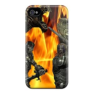 Cases Covers For Iphone 4/4s Strong Protect Cases - Skyrim Battle Design
