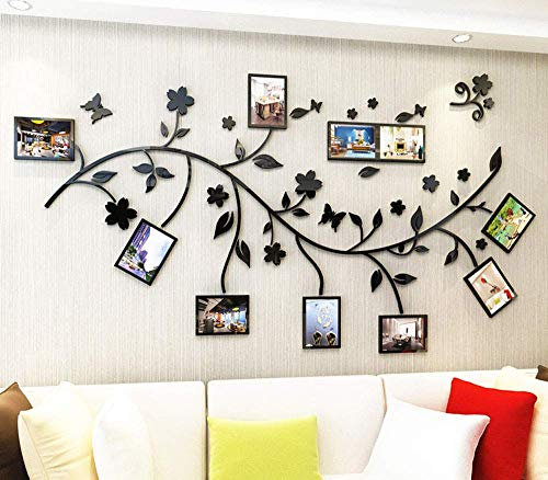 Family Tree Wall Decal. Peel & Stick Vinyl Sheet, Easy to Install & Apply History Decor Mural for Home, Bedroom Stencil Decoration. DIY Photo Gallery Frame Decor Sticker (B) by LECHEN (Image #3)