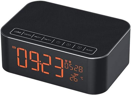 Boytone BT-87CR Dual Speaker Bluetooth Alarm Clock Radio FM Wireless USB SD NEW