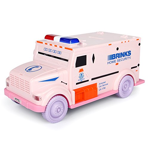 Just usCash truck piggy bank money bank Coin Bank (PINK) by Just us