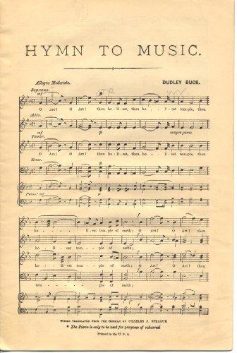 Hymn to Music SHEET MUSIC SATB