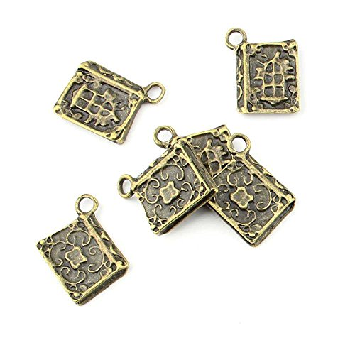 40 pieces Anti-Brass Fashion Jewelry Making Charms 1978 Ancient book Wholesale Supplies Pendant Craft DIY Vintage Alloys Necklace Bulk Supply