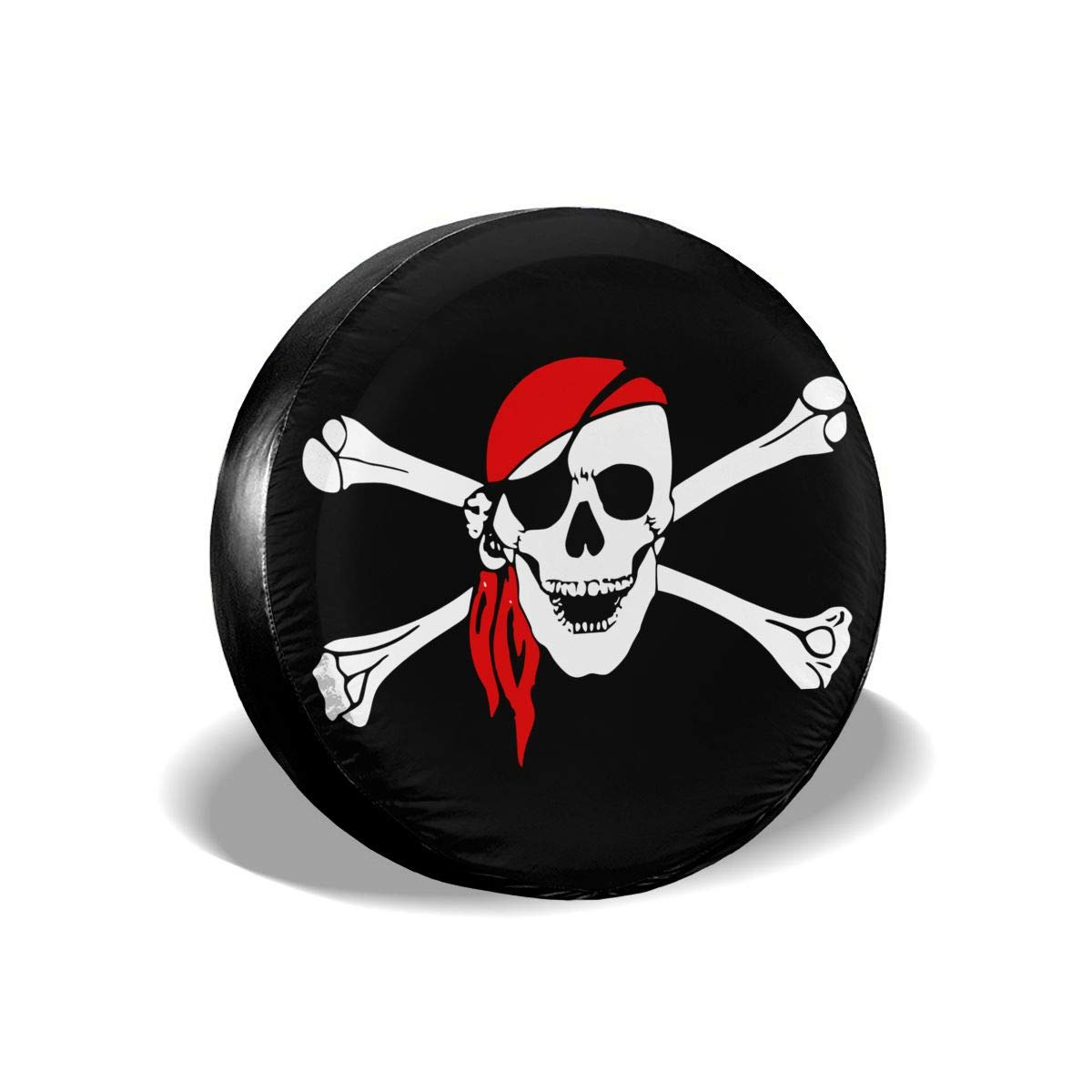PINE-TREE-US Pirate Flag Skull Spare Wheel Tire Cover Waterproof Dust-Proof Fit for Trailer SUV and Many Vehicle 14 15 16 17 RV