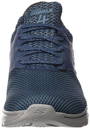 Chaussures Noir gray Walk Skechers Running De Homme Go navy 4 instinct Bleu wFxW8ZIq