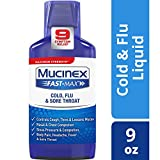 Mucinex Fast-Max Adult Cold, Flu and Sore Throat Liquid, 9 Ounce