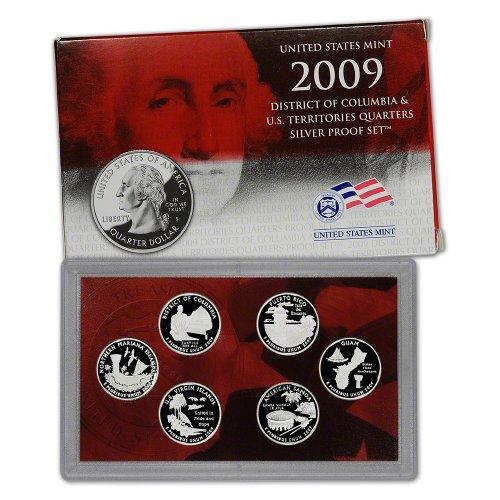 2009 S US Mint Quarters Silver Proof Set OGP (Territory Quarters Us Mint)