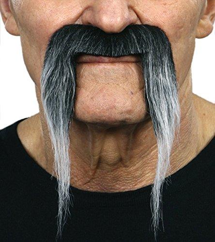 [Gray Fu Manchu moustache] (Fu Manchu Costumes)