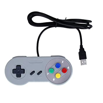 Usb Retro Mando Clasico Gamepad Joypad Para Pc Mac Juegos De Snes