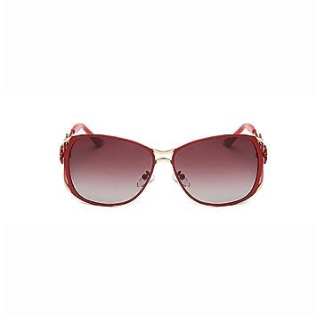Mode Blumen Hohl Sonnenbrillen Großen Rahmen,D