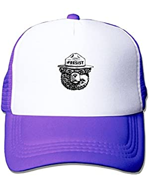 Resist Bear Unisex Mesh Hat Adjustable Sports Baseball Cap