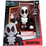 JADA Metals 4 inch Marvel Black/White Deadpool Figure