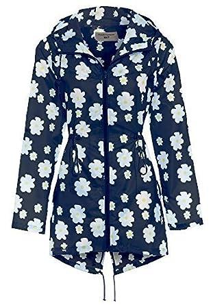 NEU SS7 Damen Regenfester Regen-Mac, Blau, Größen 12 bis 22 Größen 12 bis 22