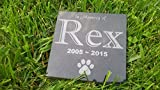 Personalised Pet Stone Memorial Marker Granite Marker Dog Cat Horse Bird Human 6'' X 6'' Custom Design Personalizd Labrador Golden Retreiver