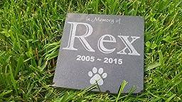 Personalised Pet Stone Memorial Marker Granite Marker Dog Cat Horse Bird Human 6\
