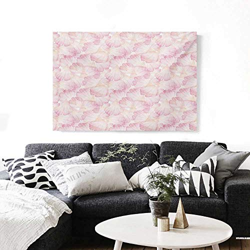 Pastel Wall Paintings Soft Pink Flower Petals Watercolor Painting Style Rose Blossom Romantic Gentle Print On Canvas for Wall Decor 36