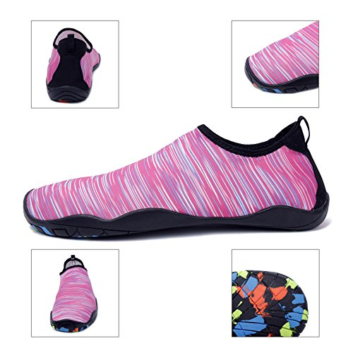 Holes Shoes Beach Men Swim Yoga Sneakers Water A Sports Dry for Walking Drainage Barefoot with Boating pink Multifunctional Park Lake Garden Quick Women KEALUX Driving 7d6qw07U