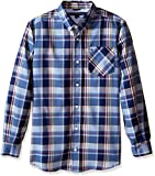 Tommy Hilfiger Big Boys' Kingsley Woven Long Sleeve Shirt, Flag Blue, Large