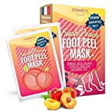 Soft Foot Exfoliating Peeling Mask - Mask for Baby Feet - Removes Calluses, Dead and Dry Skin - Repairs Rough Heels in 7 Days - Peel Mask for Men and Women(Peach)