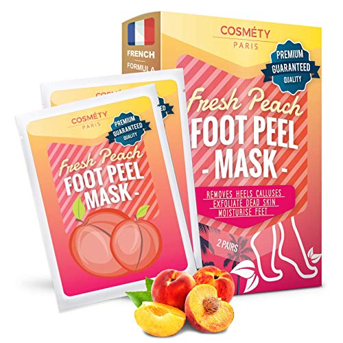 Soft Foot Exfoliating Peeling Mask - Baby Foot Peel - Removes Calluses, Dead and Dry Skin - Repairs Rough Heels in 7 Days - Peel Mask for Men and Women(Peach) ()