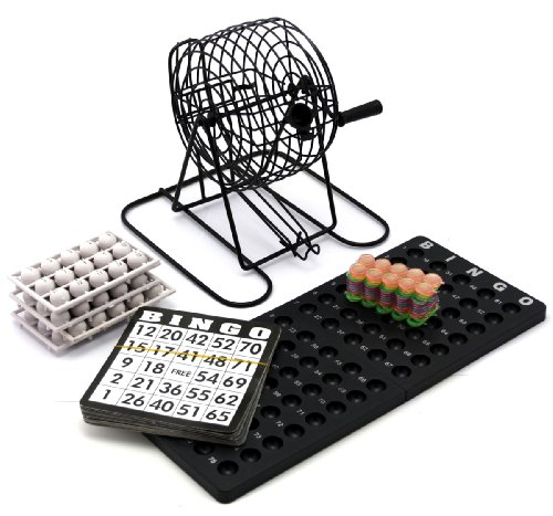 Bingo Set bestehend aus Bingokarten Mischtrommel usw. - Ideales Gesellschaftspiel