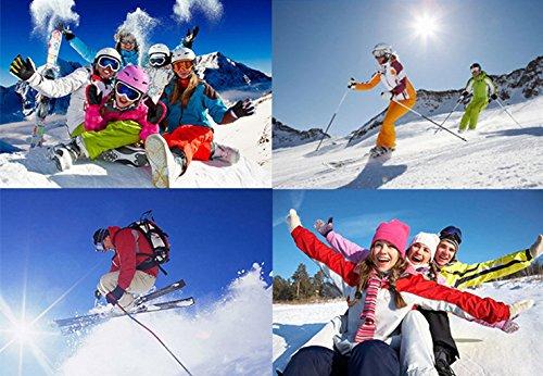 explosiones Nieve Doble esquí y Prueba montañismo Viento NEGRO de antivaho Espejo Gafas Material a PC RYxOww