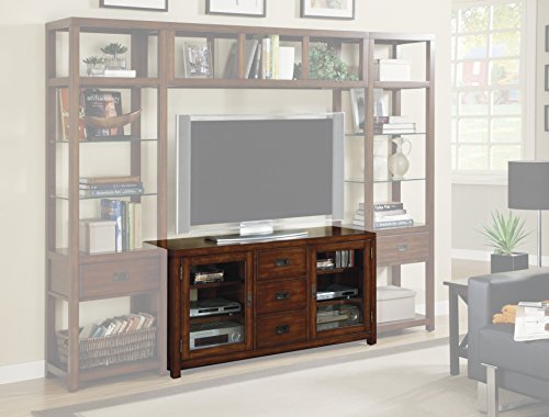 Harris & Terry AMZ6278277094 Drake 56'' Gaming Console TV Stand, Dark Wood (56' Stand Console Tv)