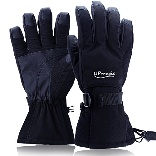 Waterproof Mens Ski Gloves, Windproof Warmest Thinsulate Cold Weather Glove For Skiing...