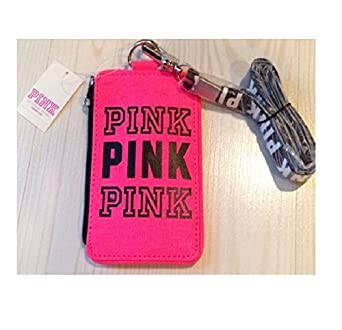 Victoria's Secret PINK Logo Wallet ID Case Holder Lanyard Strap ...