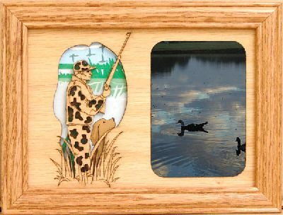 Duck Hunter 5x7 Black Picture Frame from GiftWorksPlus