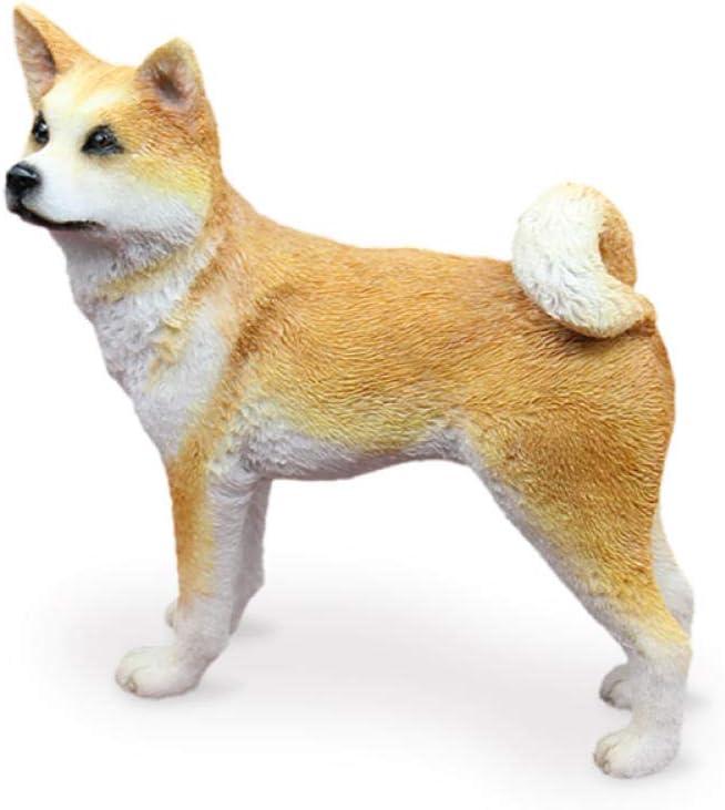 WMHF Estatua Resina Adornos Akita Japonés Modelo De Perro Simulación Perro Ornamento Shiba Inu Resina Artesanía Accesorios para Automóviles