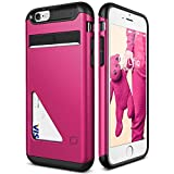 iPhone 6S Plus Case, Lific [Mighty Card][Hot Pink] - [Wallet Card Slot][Drop Protection] For Apple iPhone 6 6S Plus 5.5