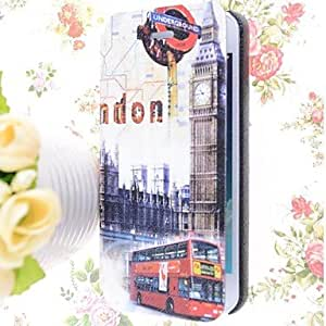 YXF Special Grains London Belfry Pattern PU Full Body Case with Card Slot for iPhone 5/5S