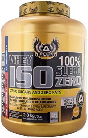 PROTEINA WHEY ISO   ARES - 2,3 kg - ZERO CARBS AND ZERO FATS (Chocolate)