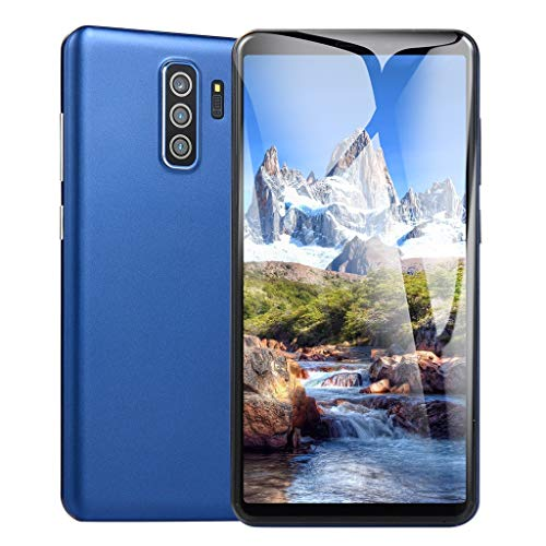 ALOVEMO New 5.8 inch Smartphone, 2019 Dual HD Camera Android 6.0 1GB+4GB GPS 3G Call Mobile Phone (Blue)