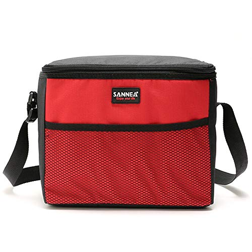 telaite 9.5 L Multi-Function Insulation Package Out Camping Lunch Bag Refrigerated Package(Red)