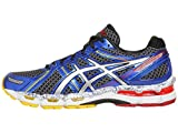 ASICS Men's GEL-Kayano 19 Running Shoe,Black/Lightning/Blue,6.5 M US For Sale
