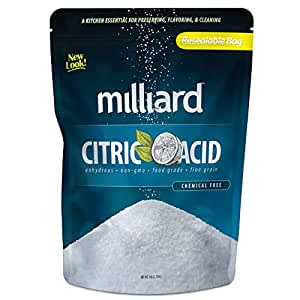 Milliard Citric Acid - 5 Pound - 100% Pure Food Grade NON-GMO (5 Pound)
