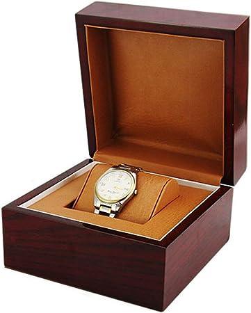QXTT Estuche para Relojes Madera Reloj De Pulsera Brazalete Caja Almohada Estuches para Relojes Gran Regalo De Cumpleaños Party Regalo: Amazon.es: Hogar