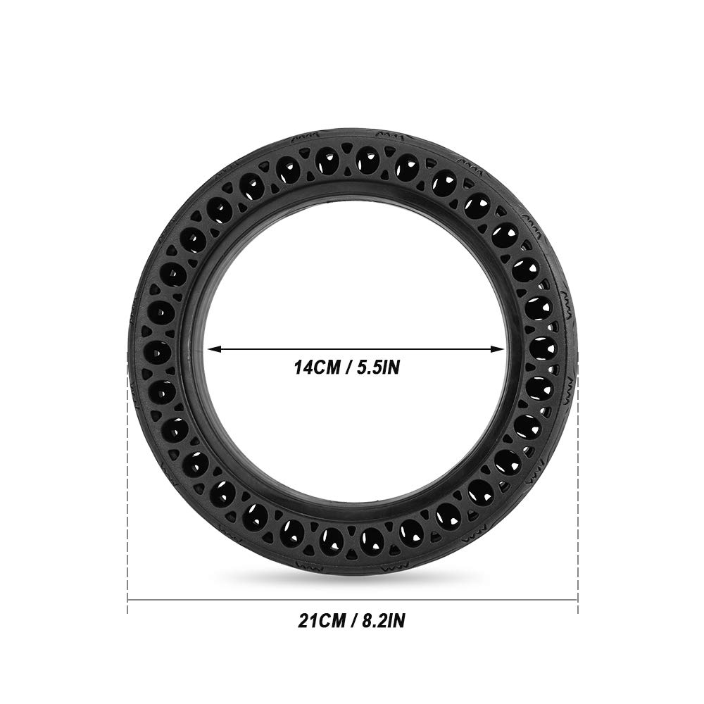 Walmeck Explosion-proof Solid Tire Front Rear Tyre for Xiaomi M365 Electric Scooter