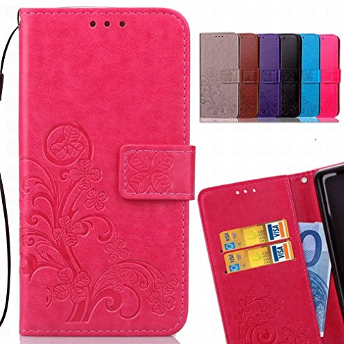 X Rosa Power2 LEMORRY Pelle Charge Clover per Magnetico Marron LG Bumper Custodia TPU Custodia Power M320G 2 Protettivo fortunato Silicone Morbido Borsa LG X LG Cover X Portafoglio Cuoio Sottile Flip RAwERrq4